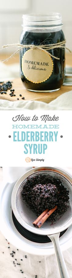 How to make the BEST homemade elderberry syrup. Plus, this recipe saves so much money when compared to purchasing immune-boosting elderberry syrup from the store. You can take this via a spoon or mix it in a smoothie.