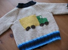 KEEP ON TRUCKIN' BABY CARDIGAN; you must have a Ravelry (free) membership to download pattern