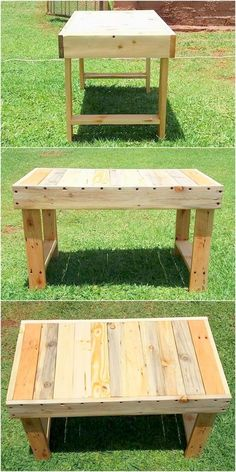 Diy Furniture - Pallet Wood Multipurpose Bench Idea This multipurpose bench which is also can be. Pallet Lounge, Diy Pallet Sofa, Diy Pallet Furniture, Diy Pallet Projects, Wood Projects, Woodworking Projects, Wooden Furniture, Pallet Ideas, Pallet Benches
