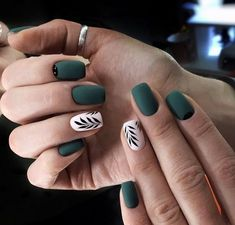 46 Splendid Matte Nail Design Ideas Try For You is part of Nail designs - It is only a chic and statement making idea and it'll suit everyone Matte nail art is currently quite a […] Cute Acrylic Nails, Matte Nails, Acrylic Nail Designs, Nail Art Designs, Nails Design, Matte Green Nails, Matte Black, Green Nail Designs, Oval Nails