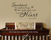 Sometimes the smallest Things Winnie the Pooh Quote Nursery VInyl Wall Lettering Decal Large Size Options