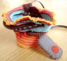 freeform crochet bracelet. www.kjoo.etsy.com