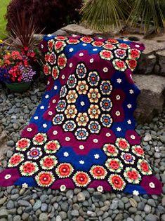 de punto y ganchillo diseño: patrón de flores de Frida fijó ocho