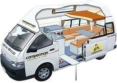 Paradise 5 Seat Campervan with Shower & Toilet for hire from Camperman Australia Toyota Hiace Campervan, Campervan Hire, Campervan Interior, Motorhome Rentals, Rv Rental, Two Man Tent, Campervans For Sale, Van Bed, Tent Campers
