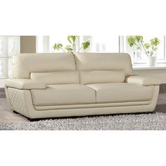 Shop for American Eagle Cream Italian Leather Sofa Set. Get free delivery On EVERYTHING* Overstock - Your Online Furniture Shop! Eagle Furniture, Sofa Design, Sofa, Furniture, Italian Leather Sofa, Living Room Leather, Top Furniture Stores, Sofa Set, Leather Sofa Set