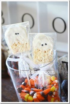 Rice Kripie Halloween Ghosts|theidearoom.net