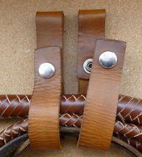 Leather Indiana Jones bullwhip / whip belt holder replica prop