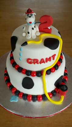 Firefighter Cake for a grooms cake Love the Grant :-)