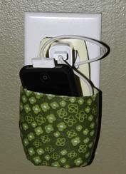 Here is a simple and creative way to make a holder that protects your phone and hides those pesky cords. For just $6.95, it's a perfect accessory for your home.