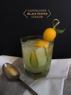 Cantaloupe black pepper cooler