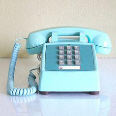 Little Pleasures: 1970s Aqua Touch Tone Phone, at 28% off!