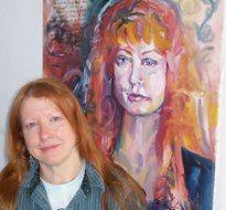 Susan Einhorn with her Spirit Capture Portrait www.RobbiFirestone.com