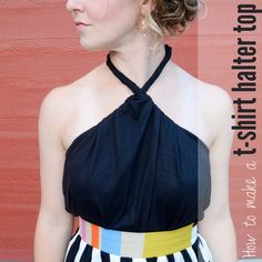 How to Make a T-shirt Halter Top