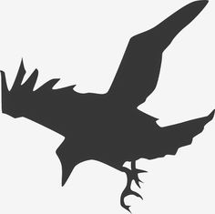 Vector silhouette illustration of a standing crow. Black and white drawing of a bird. The Crow, Crow Silhouette, Silhouette Clip Art, Animal Silhouette, Black Bird Fly, Crow Flying, American Crow, Crow Bird, Photos Hd