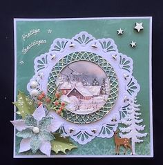Winter Cards, Christmas Art, Paper Crafts, Frame, Handmade, Cards, Paper, Picture Frame, Hand Made