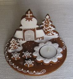 Wedding Cupcakes, Xmas, Christmas, Gingerbread Cookies, Desserts, Food, Little Cottages, Gingerbread Cupcakes, Tailgate Desserts