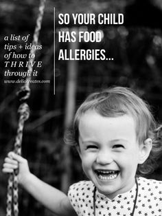 Food allergy friendly tips and tricks // Delia Creates