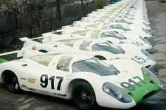 "itsbrucemclaren: ""Tribute — Porsche lined up in preparation for FIA homologation. (Porsche AG photo) — Ferrari lined up at the factory for FIA homologation in late (Ferrari S. Porsche 911 Gt3, Carros Porsche, Porsche Autos, Porsche Motorsport, Porsche Cars, Cool Sports Cars, Sports Car Racing, Sport Cars, Race Cars"