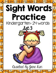 I have created 'Sight Words Practice' to supplement your sight-word lessons. These are the sight words for this download: but, all, saw, him, got, not, as, my, why, too, new, her, look, with, they, that, said, first, day, six, three, where, there, and could Set THREE includes~ -a student sight word list containing 24 sight words, which can be introduced over Sight Words List, Sight Word Practice, Grade 1 English, Teaching Kindergarten, Teaching Ideas, Word Skills, Six Words, Teacher Newsletter, Teacher Pay Teachers