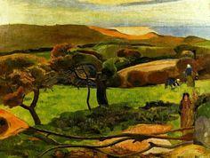 Paul Gauguin, paesaggio in Bretagna,1889