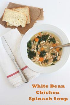 White Bean Chicken & Spinach Soup