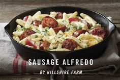 The robust taste of Smoked Sausage is perfectly blended into a pasta of heavy cream, Cajun seasoning, and Parmesan cheese in this hearty 15-...