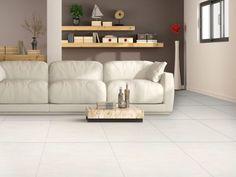 Reverie Ivory Shiny Glazed Porcelain Floor Tile - 600 x Porcelain Floor, Sofa, Couch, Living Room Flooring, Refurbishment, Tiling, Tile Floor, Ivory, Bedroom