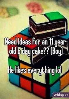 11 year old boy cake designs - Google Search