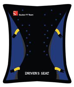 """Sauber F1 Team - Sauber F1 Team Beanbag """"Driver's Seat"""" - Webshop Bean Bag, F1, Converse Chuck Taylor, High Top Sneakers, Passion, Bean Bags, Bean Bag Chair"""