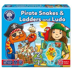 0b9240a9b1ab Orchard Toys Pirate Snakes and Ladders & Ludo Board Game Game Boards, Board  Games,