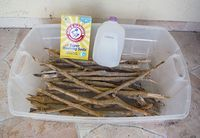 Make your own Driftwood... from wood, bleach, water and washing soda. :) It takes a week.