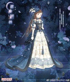 Vestidos Anime, Nikki Love, Anime Dress, Anime Princess, Princess Outfits, Fashion Design Drawings, Fantasy Dress, Cute Anime Couples, Character Outfits