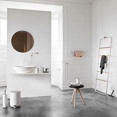top3 by design - Menu - towel ladder white-light oak