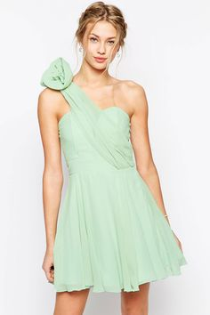 Prom One Shoulder Dress With Corsage Detail, $76, asos.com   - Seventeen.com