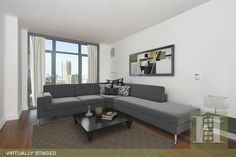 Tribeca, NYC 2BR Virtually Staged. Click to see unstaged. Stager, Furniture, Sectional Couch, Property, Empty Room, Tribeca, Home Decor, Us Real Estate, Room
