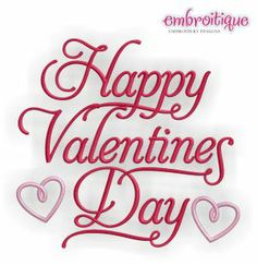 Embroidery Designs (All) - Happy Valentine's Day - Fancy on sale now at Embroitique!