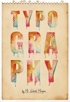 Designed and created by Mr. Gabriel Marques. Watercolour typography