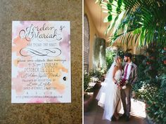 i love everything about this wedding, from the watercolor wedding to the pictures by the carousel to the paper flowers