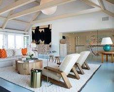 David Netto Oceanfront Home Living Room - on Savvy Home Blog