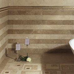 pictures of bathroom tile floors with roses