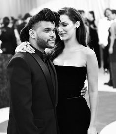 Met Gala 2016: A Black-and-White Look at the Night's Most Magical Moments   People - The Weeknd and Bella Hadid