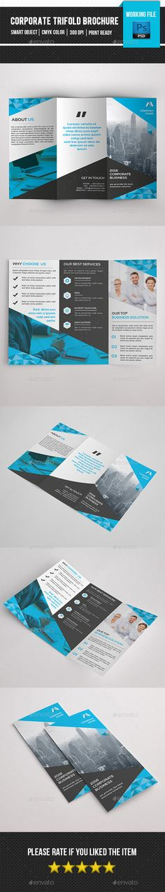 Buy Corporate Trifold by sistec on GraphicRiver. Corporate Brochure is for corporate and related industry. Comes with elegant, modern and clean design. Photo not inc. Brochure Layout, Corporate Brochure, Business Brochure, Brochure Design, Brochure Template, Love Design, Clean Design, Minimalist Flat, Booklet Design