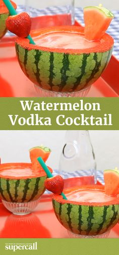 Mini melons make great vessels for delicious drinks. This cocktail blends up watermelon juice with vodka for this easy Vodka Watermelon Cocktail, then serves the sweet summery drink directly in hollowed out melon halves.