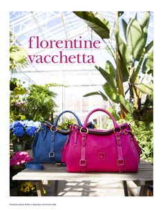 Dooney Spring LookBook - Featuring the Florentine Satchel (8L940) in Royal Blue and Fuchsia (Page 10)