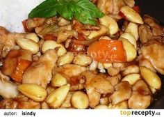 Kuřecí prsa Kung pao s mandlemi recept - TopRecepty.cz Black Eyed Peas, Kung Pao Chicken, Food And Drink, Cooking, Ethnic Recipes, Asia, Kitchen, Brewing, Cuisine