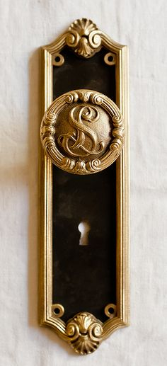 Round Knobs Set of 2 Vintage Metal Door Knobs Vintage Beautiful Metal Door Knobs