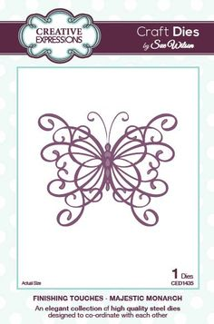 Creative Expressions Craft Dies by Sue Wilson - Finishing Touches Collection - Majestic Monarch