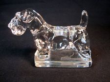 Antique Heisey Glass Sealyham terrier Dog Figurine EXCELLENT CONDITION 1541 Crystal