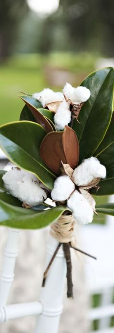 Magnolia & cotton....Southern!