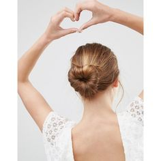 ASOS Basics Heart Bun Holder (37 RON) ❤ liked on Polyvore featuring accessories, hair accessories, black, head wrap headbands, asos hair accessories, headband hair accessories, prom hair accessories and asos headband